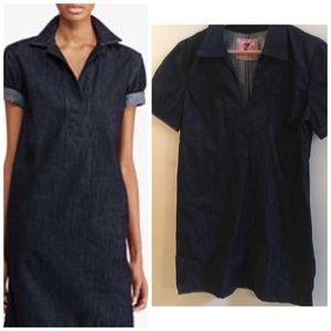 7FAM Denim Dress Tunic Shift M. 7 For All Mankind